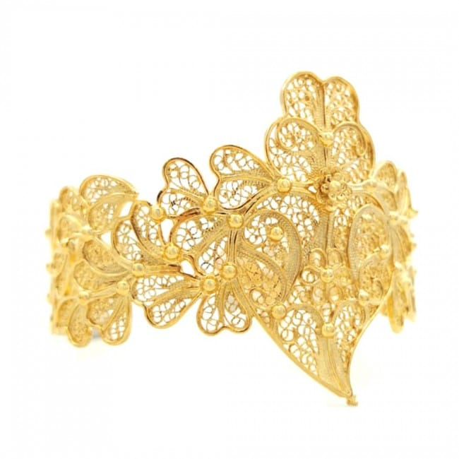 Bracelet Heart of Viana XL in Gold Plated Silver