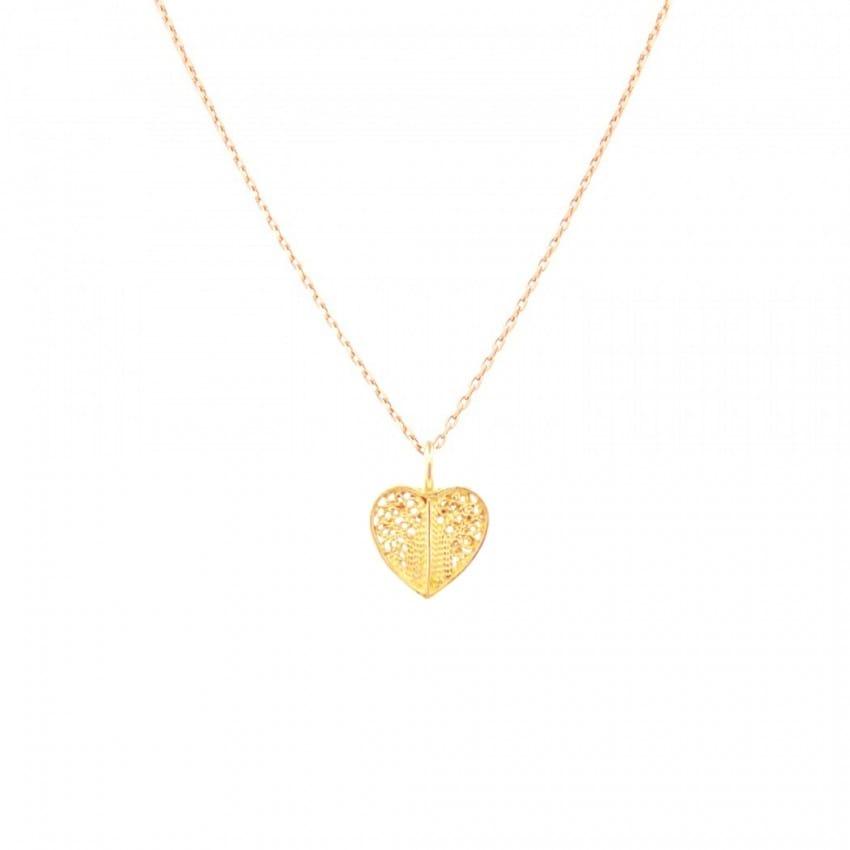 Colar Coração em ouro 19,2Kt