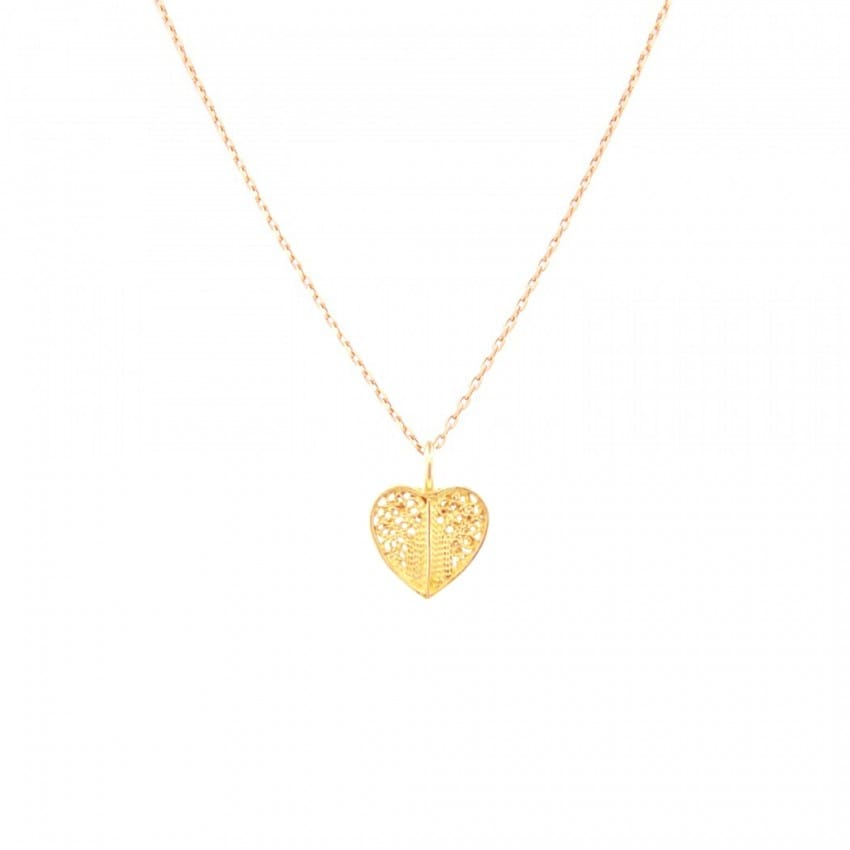 Necklace Heart in 19,2Kt Gold