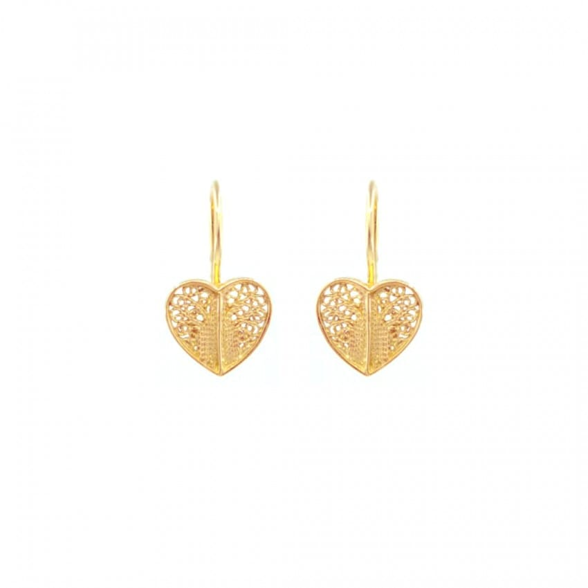 Earrings Heart in 19,2Kt Gold