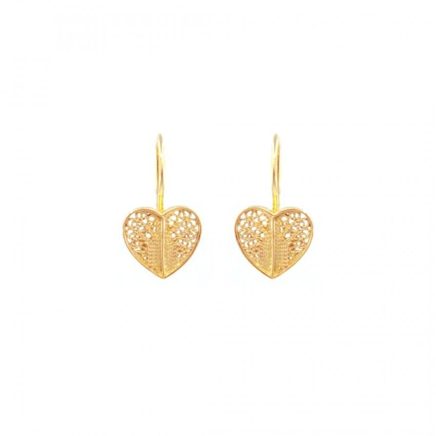 Earrings Heart in 19,2Kt Gold