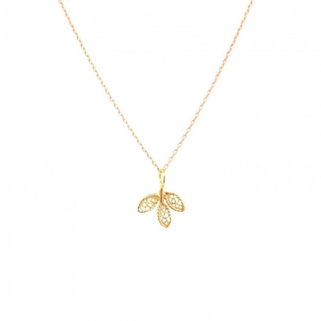 Necklace Leaves in 19,2Kt Gold