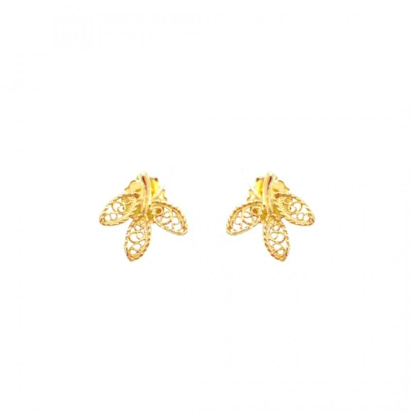 Earrings Leaves in 19,2Kt Gold