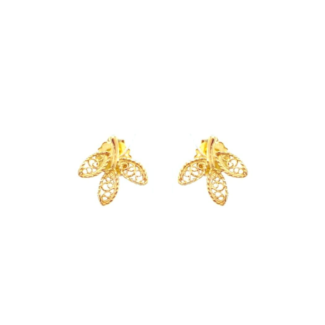 Earrings Leaves in 19,2Kt Gold