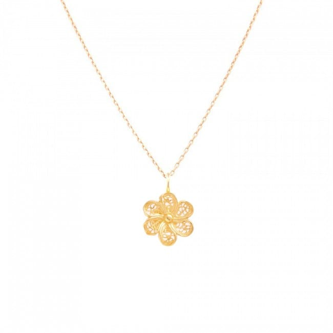 Necklace Flower in 19,2Kt Gold