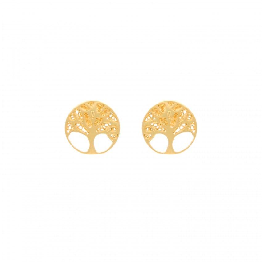 Earrings Tree of Life in 19,2Kt Gold