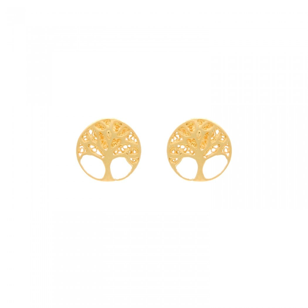 Earrings Tree of Life in 19,2Kt Gold