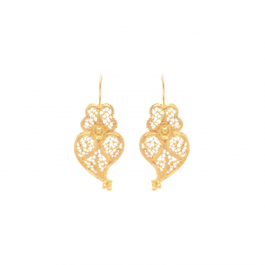 Earrings Heart Viana in 19,2Kt Gold