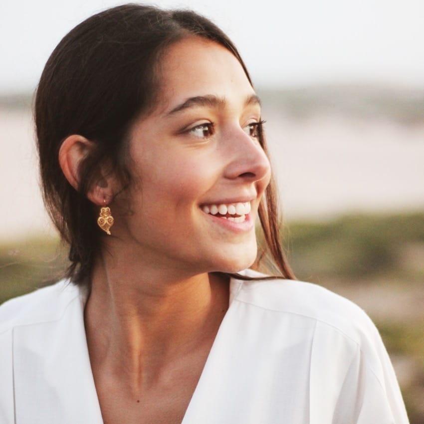 Earrings Heart Viana in 19,2Kt Gold