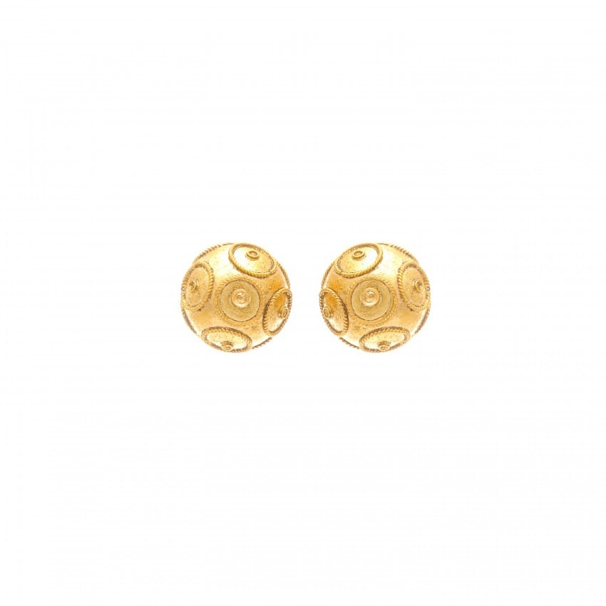 Earrings Viana's Conta in 19,2Kt Gold
