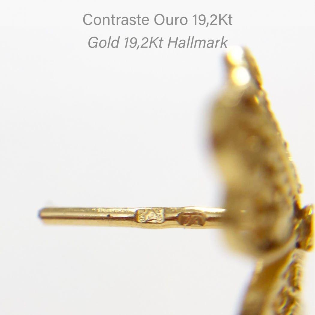 Brincos Flor em Ouro 19,2Kt