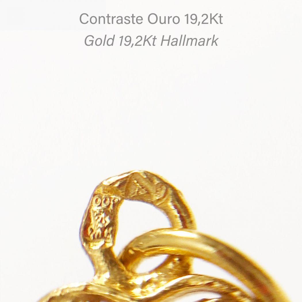 Colar Flor em ouro 19,2Kt