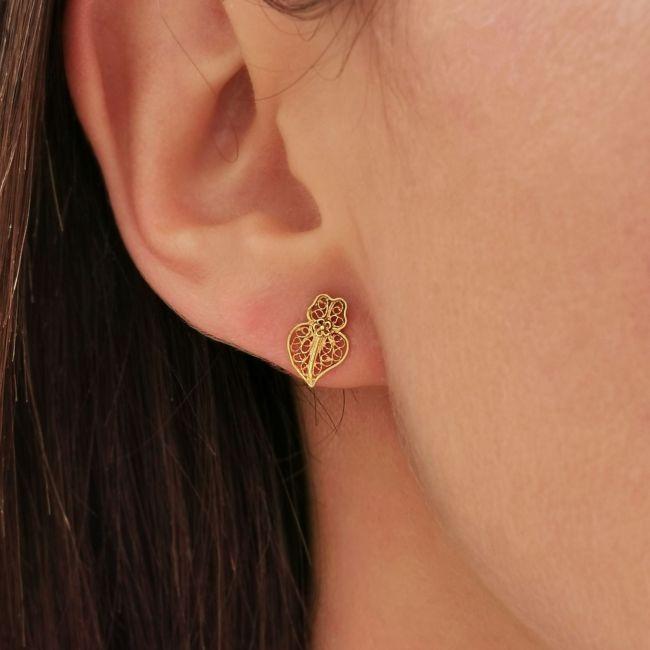 Earrings Heart Viana XXS in 9Kt Gold