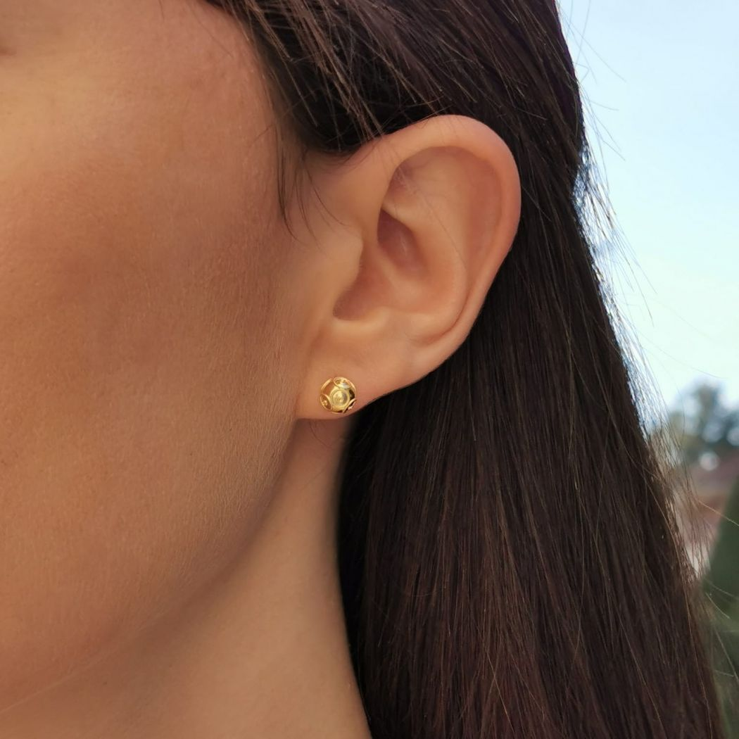 Earrings Viana's Conta in 19,2Kt Gold