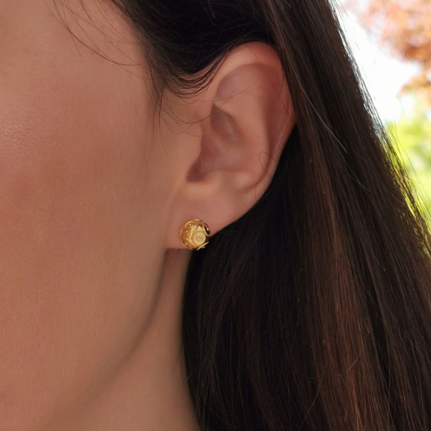 Earrings Viana's Conta 8mm in 9Kt Gold