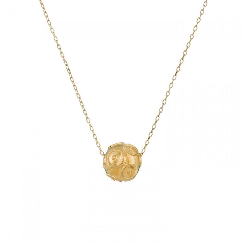 Necklace Viana's Conta M in 9Kt Gold