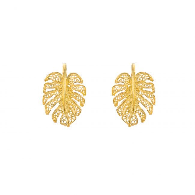 Set Monstera in Gold Plated Silver