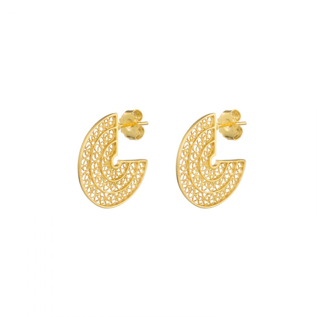 Set Circles in Gold Plated Silver