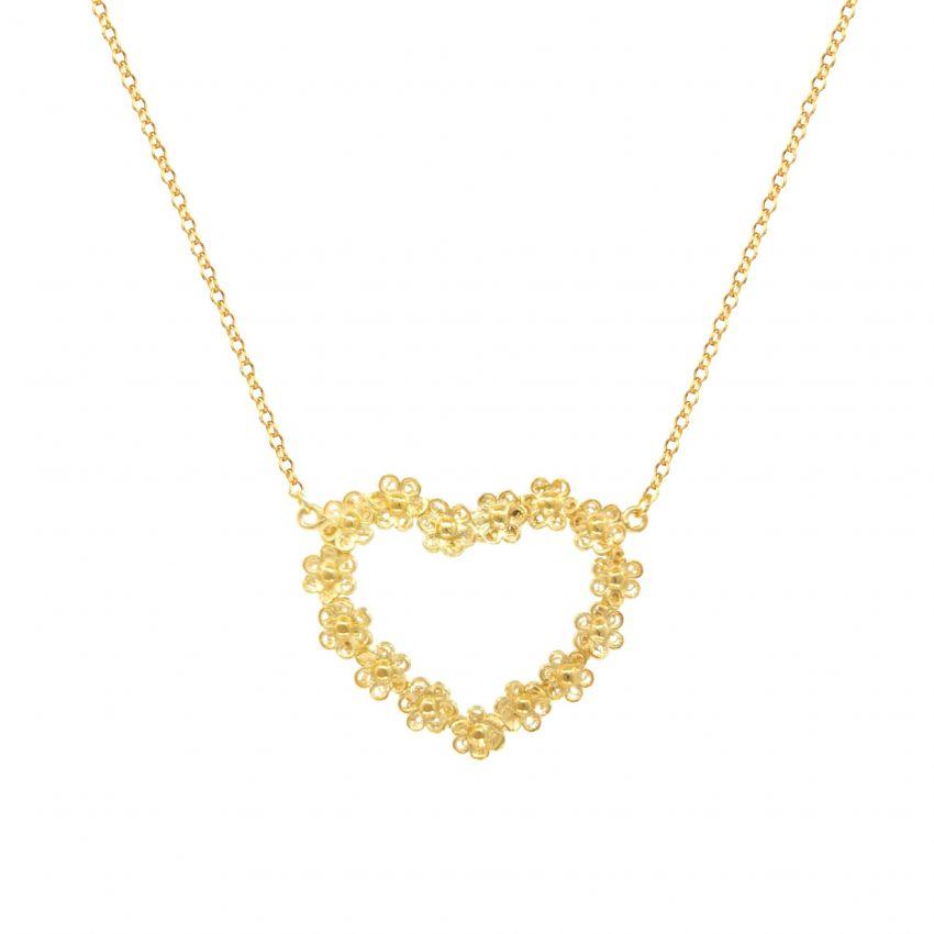 Colar Carta de Amor em Prata Dourada