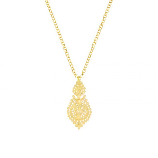 Necklace Queen Earring 4,0cm in Gold Plated Silver