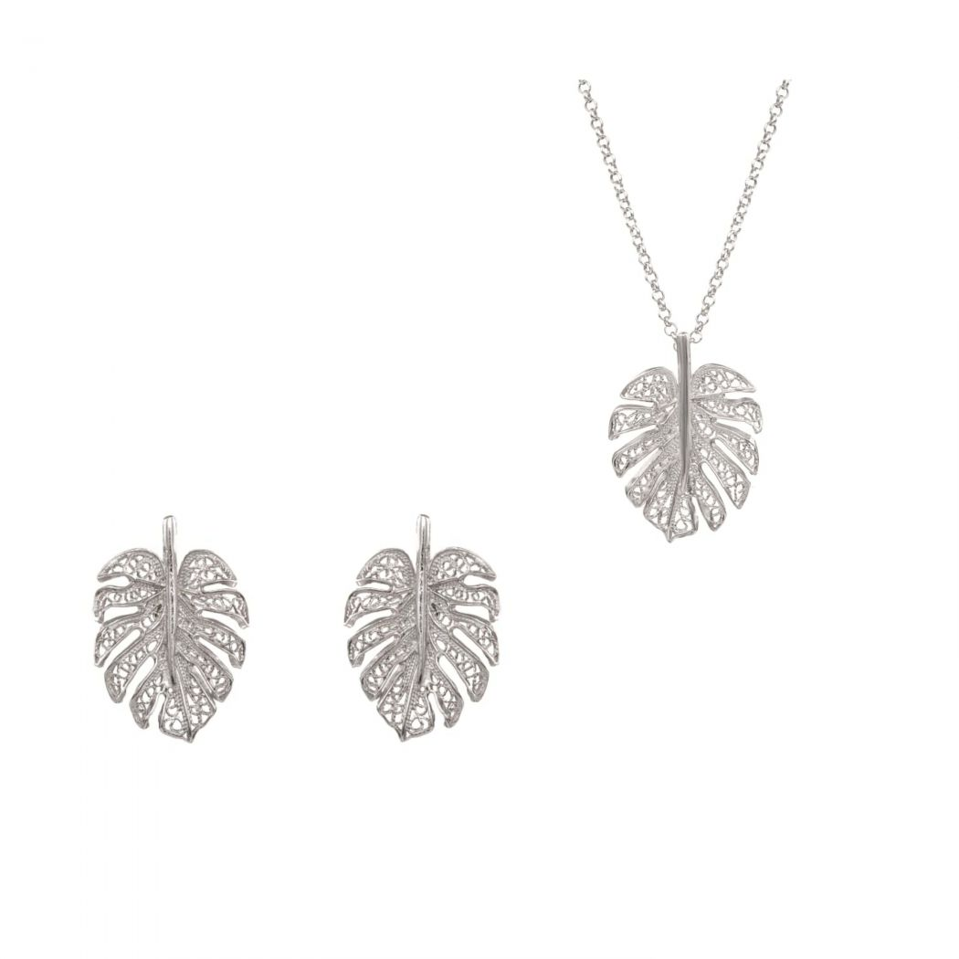 Set Monstera in Silver