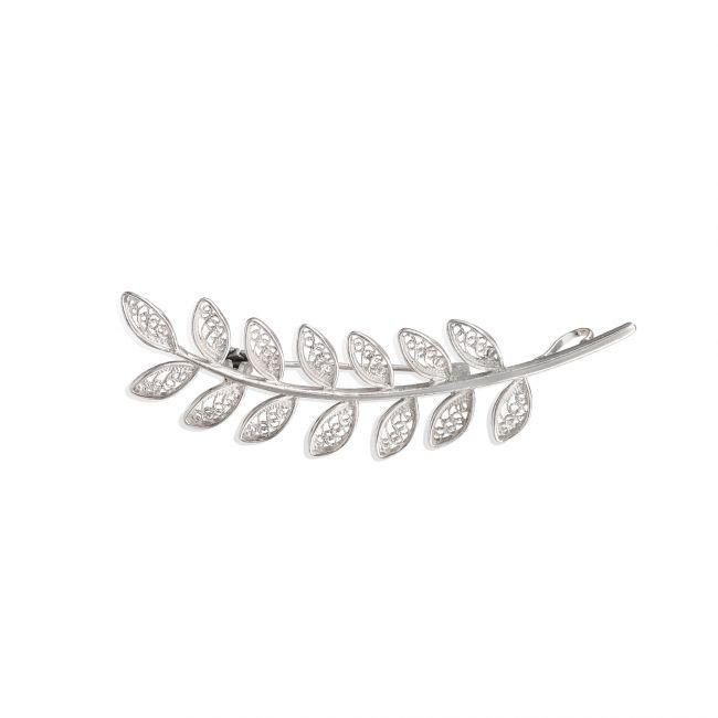 Brooch Leaves in Silver