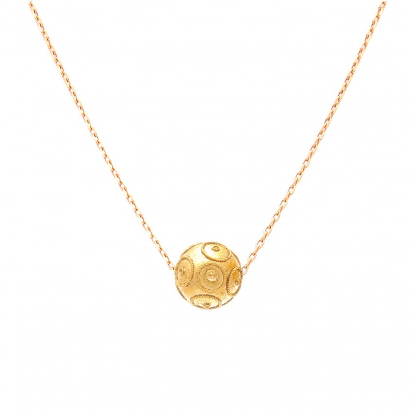 Necklace Viana's Conta 8mm in 9Kt Gold