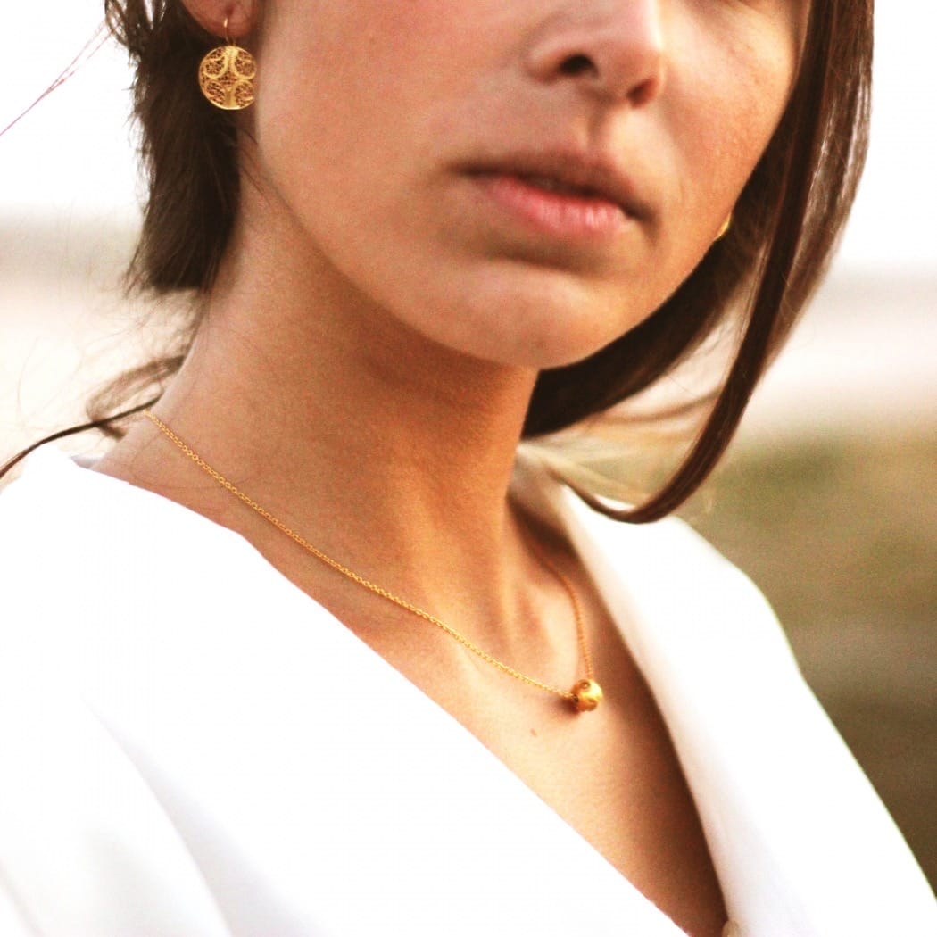 Necklace Viana's Conta 8mm in 19,2Kt Gold