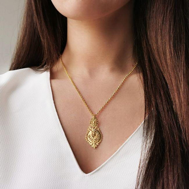Necklace Queen Earring 4,0cm in Silver
