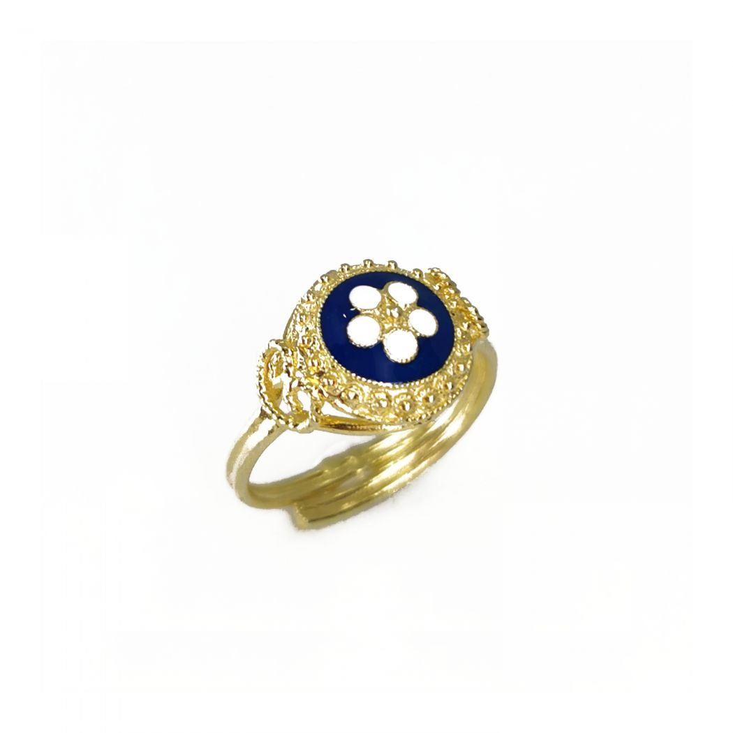 Ring Caramujo in Gold Plated Silver