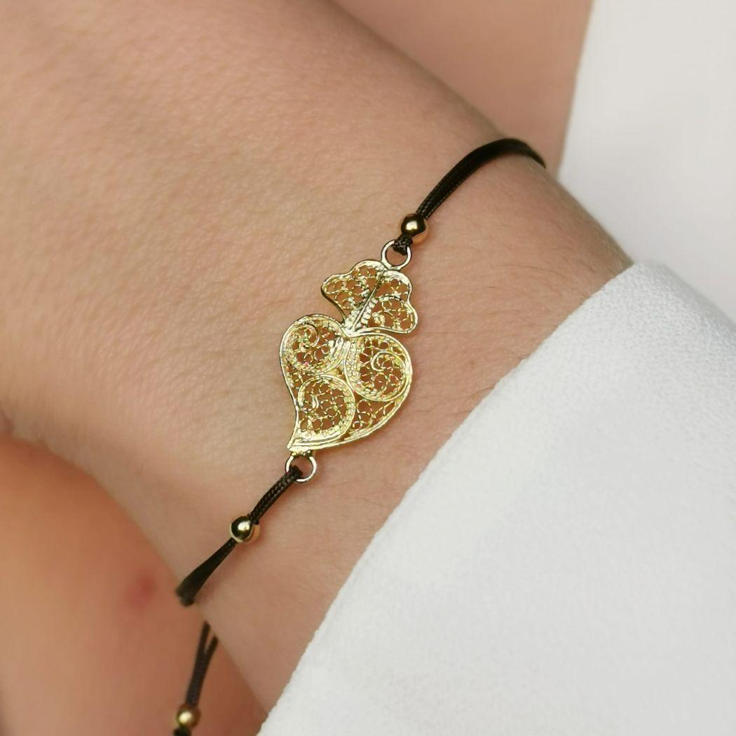 Bracelet Heart of Viana in Silver
