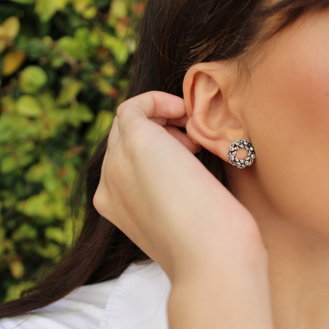 Set Crown Marcasites in Silver