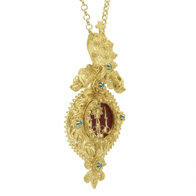 Necklace Shrine XL in Gold Plated Silver