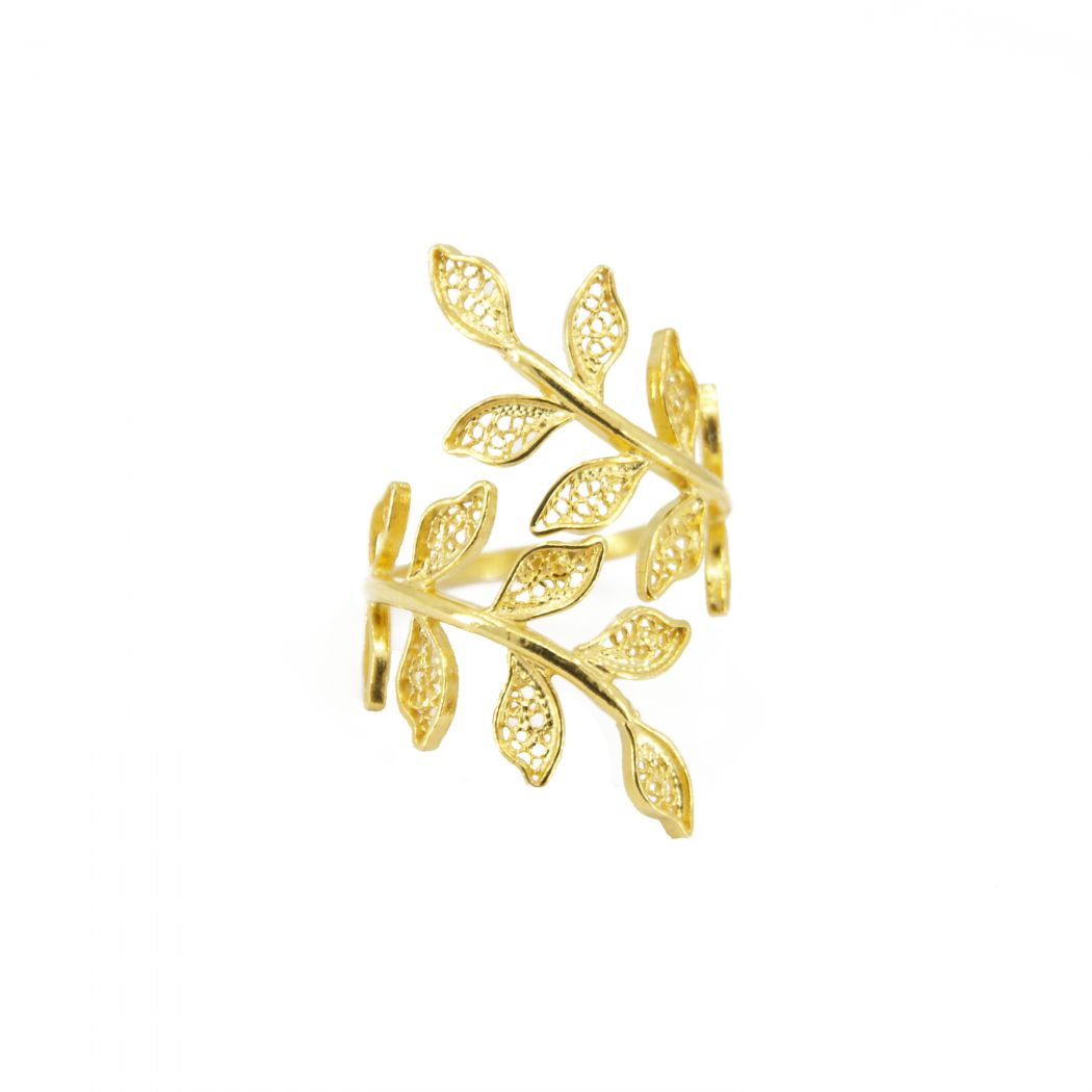Ring Ciclo in Gold Plated Silver