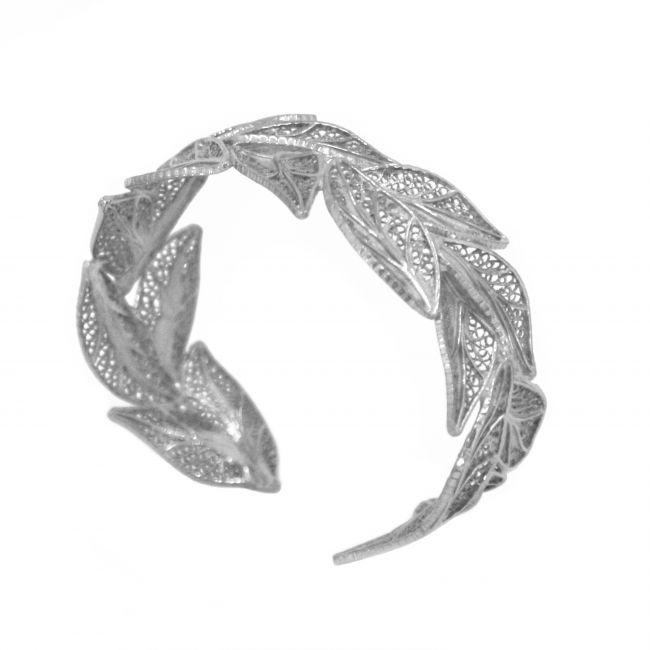 Pulseira Folhas em Prata