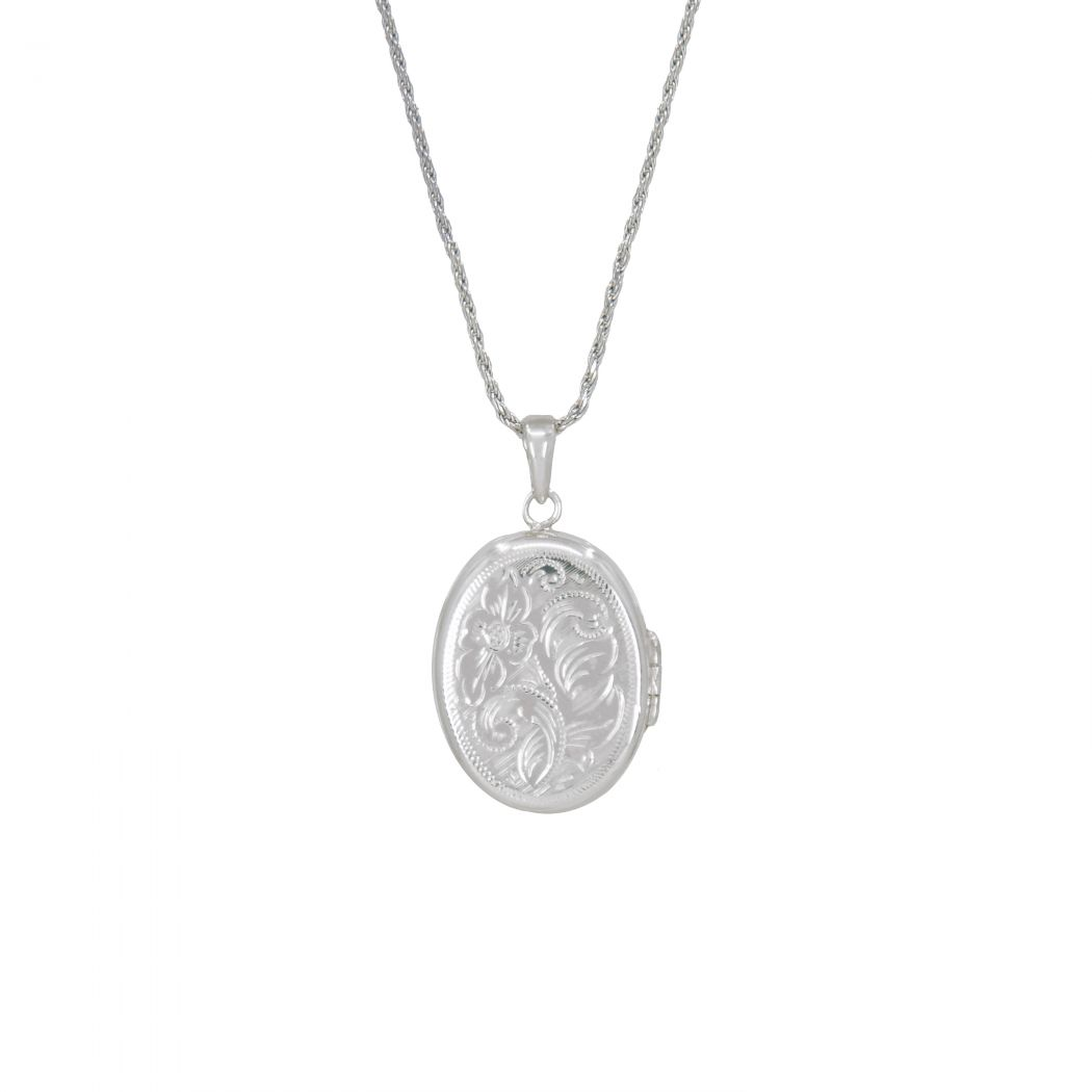 Necklace Memoria Oval in Silver