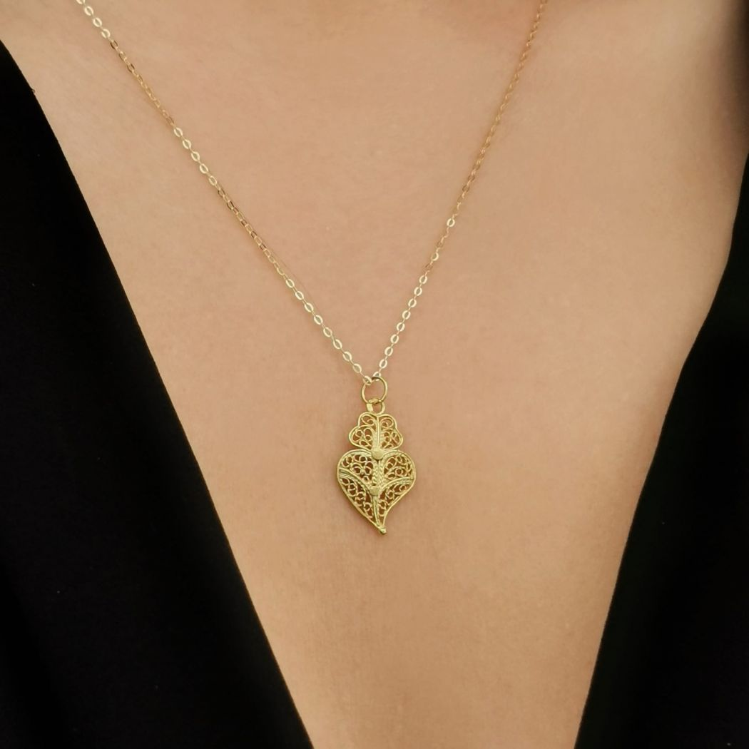Necklace Heart of Viana XS in 19,2Kt Gold