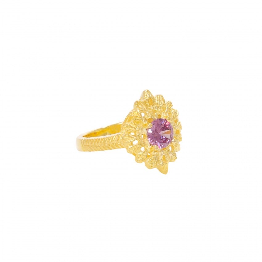 Ring Queen Amethyst in Gold Plated Silver