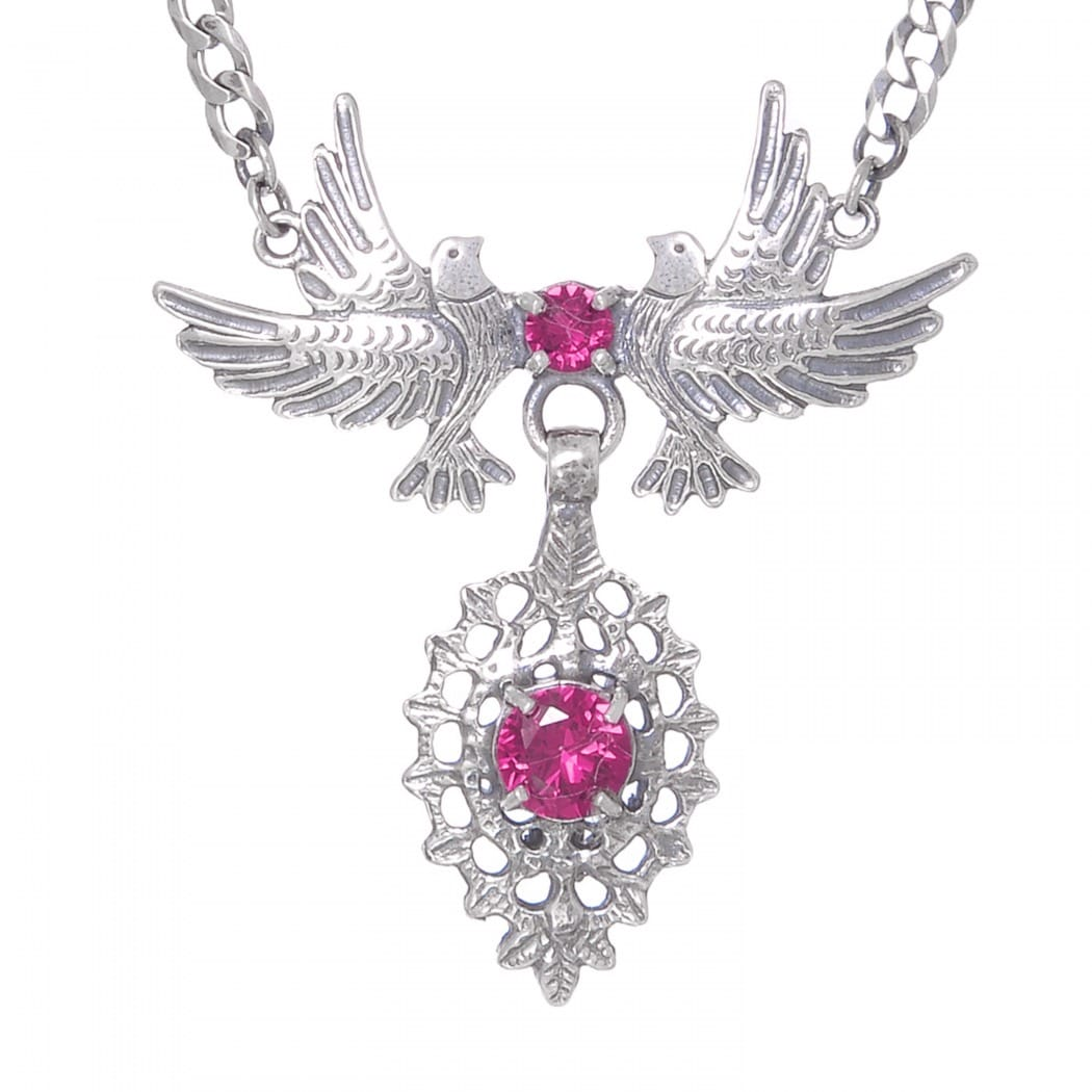 Necklace Queen Dove Ruby in Silver