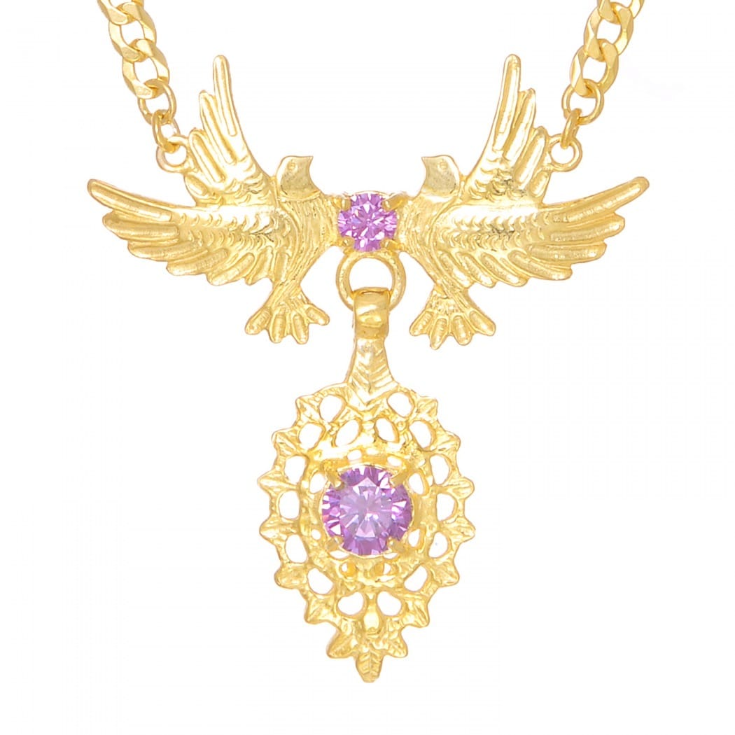Necklace Queen Dove Amethyst in Golden Plated Silver