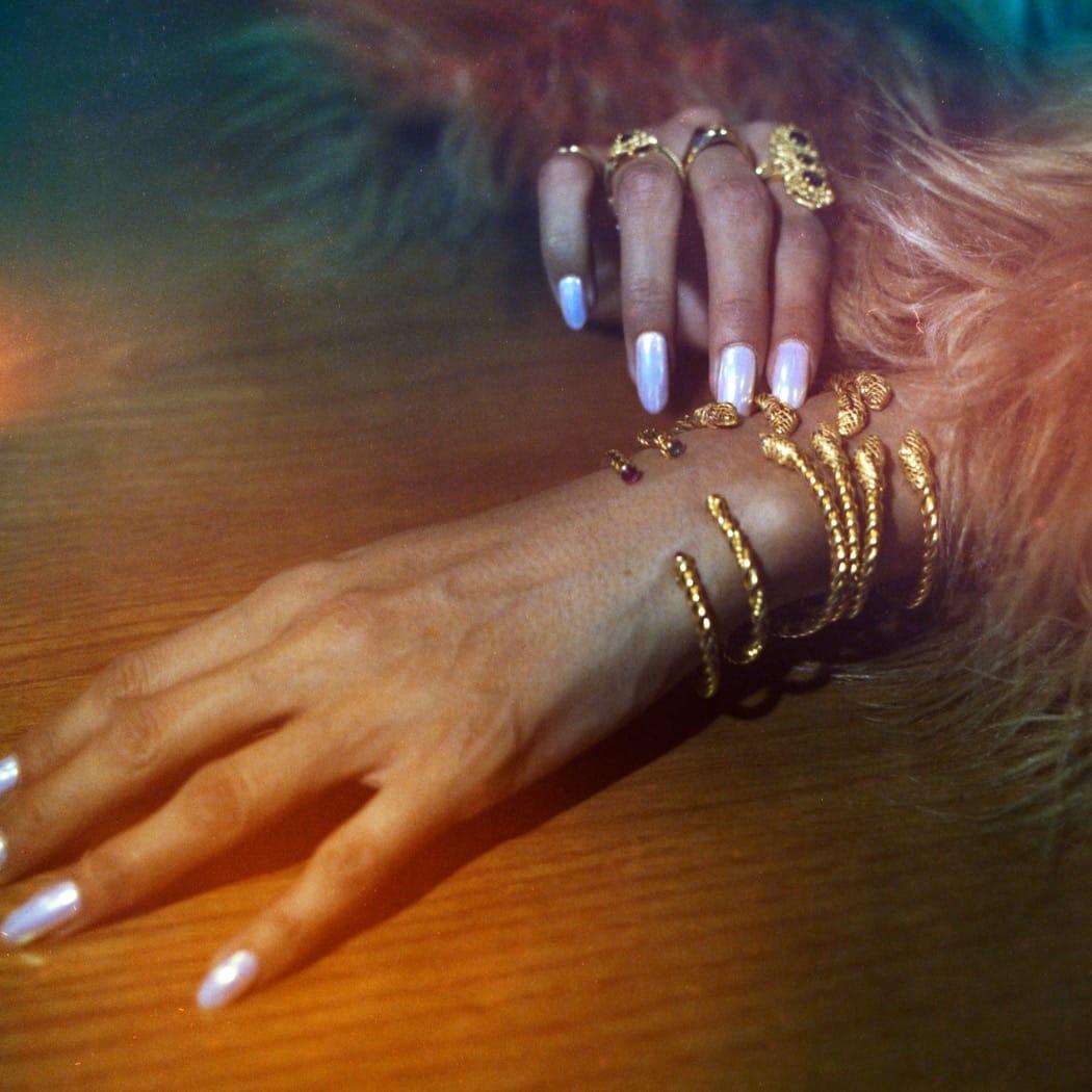Bracelet Snake Ruby in Gold Plated Silver