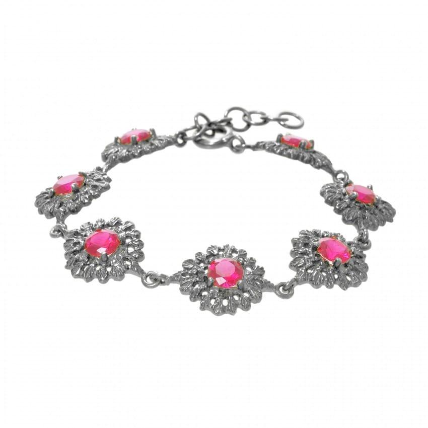 Bracelet Queen Ruby in Silver