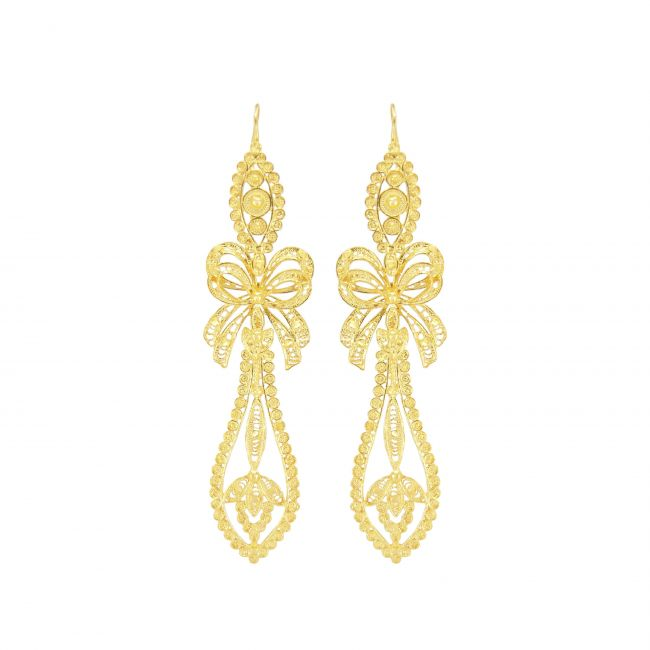 King Earrings in Gold Plated Silver