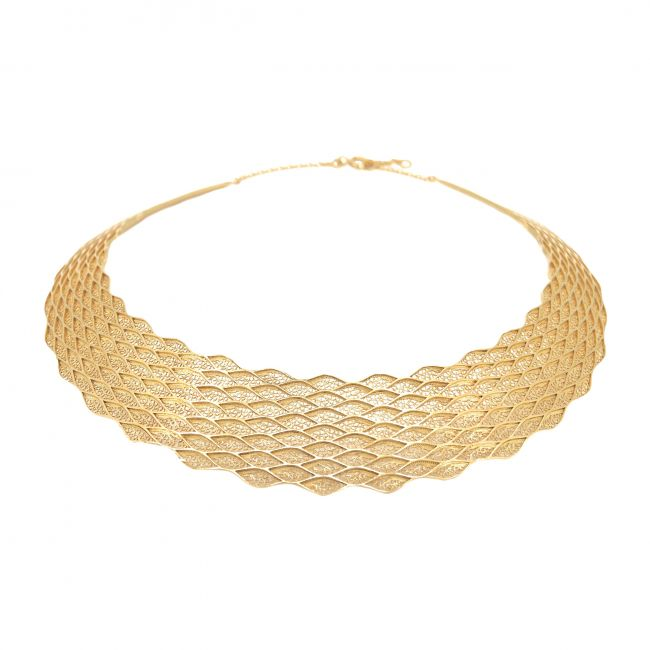 Necklace Choker in Gold Plated Silver