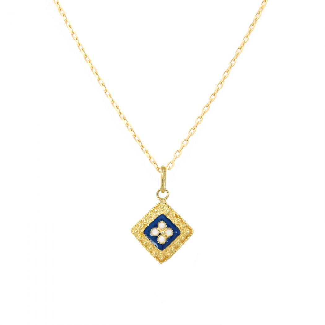 Necklace Rhomb Caramujo in Gold Plated Silver