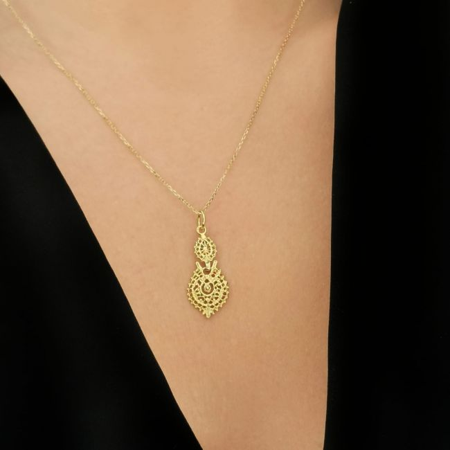Necklace Queen Earring in 9Kt Gold