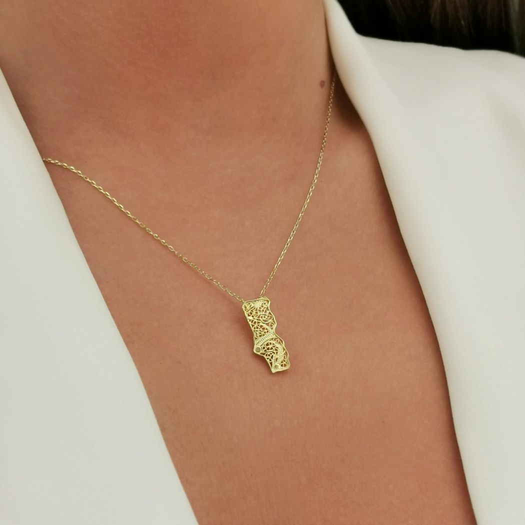 Necklace Portugal in Gold Plated Silver