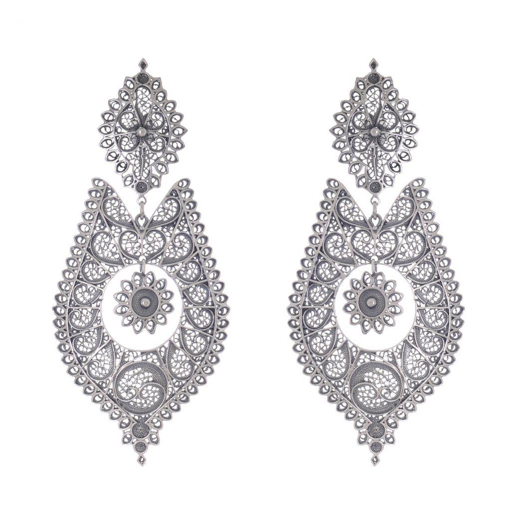 Queen Earrings Icone in Silver
