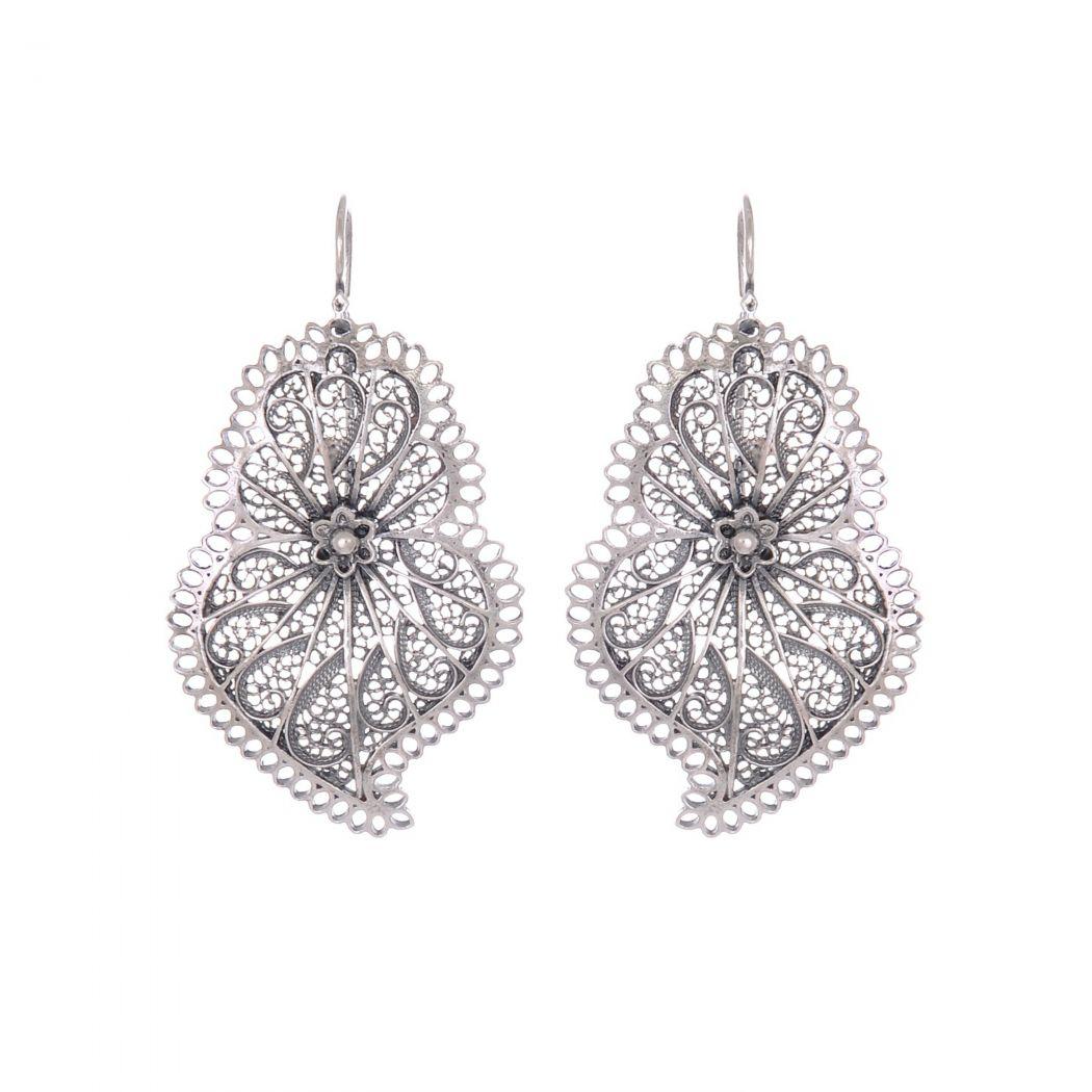 Earrings Heart of Viana Icone in Silver