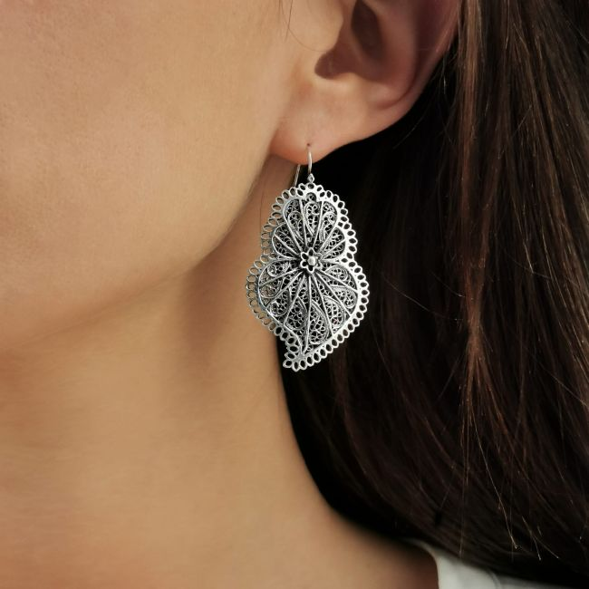 Earrings Heart of Viana Icone in Gold Plated Silver